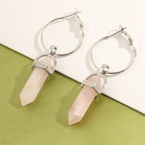 boucles d'oreilles créatives à pendentif pilier hexagonal turquoise rétro NHNZ353085's discount tags