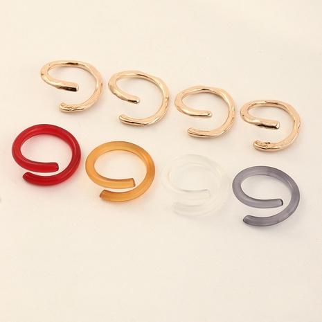 anillo de resina de metal irregular geométrico de moda al por mayor NHNZ353088's discount tags