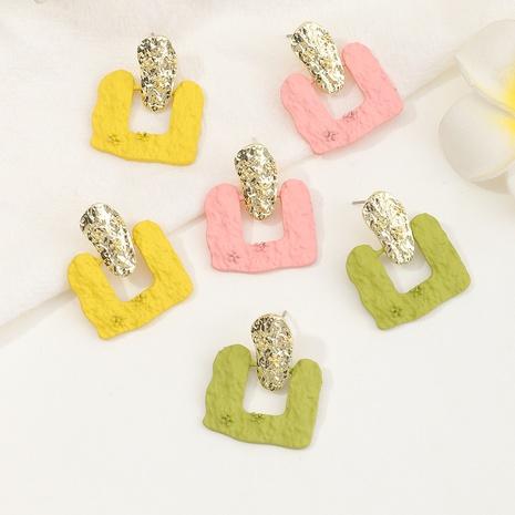 boucles d'oreilles de texture de bosse géométrique en alliage créatif de mode NHNZ353094's discount tags
