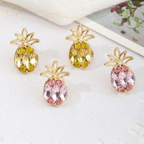 Boucles d'oreilles à la mode ananas flash diamant fruits NHNZ353095's discount tags
