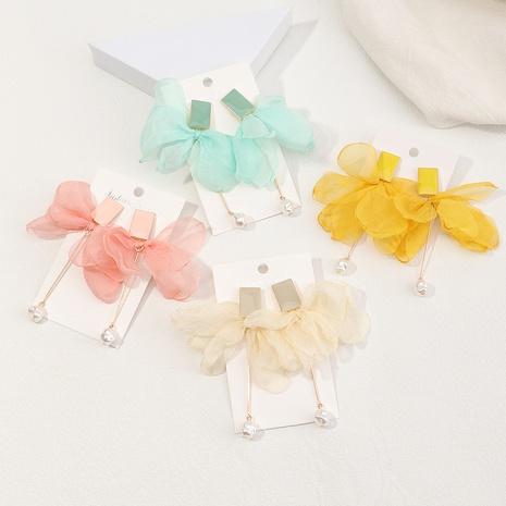 boucles d'oreilles en gaze de couleur unie à la mode NHNZ353104's discount tags