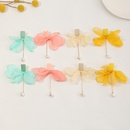 fashion solid color gauze flower bow earrings   NHNZ353104