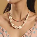 Bohemian Handmade Beads Shell Multilayer Necklace  NHLA353114