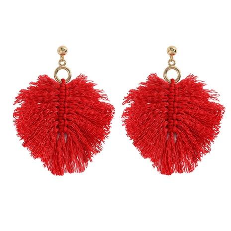 bohemian hand-woven geometric long large earrings  NHJQ353191's discount tags