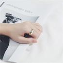 Korean s925 sterling silver glossy rhombus pattern wide ring  NHLON353192