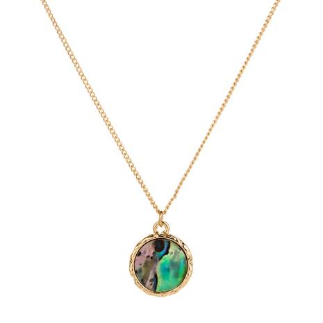 Collar con colgante redondo de concha de abulón de color natural de moda NHAN353299's discount tags