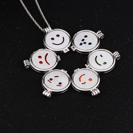 Hip-Hop Smiley leuchtende Anhänger Edelstahl Halskette Großhandel NHAN353306's discount tags