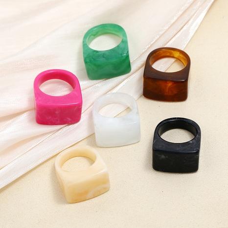 anillo de acrílico geométrico exagerado retro de moda NHMO353372's discount tags