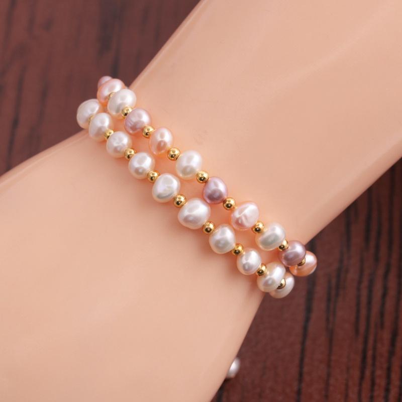 Korean freshwater pearl multilayer bracelet  NHYL353388