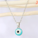 Bohemian Resin Round Eye Pendant Necklace  NHGO353397