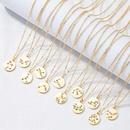 wholesale simple twelve constellation letter round pendent necklace  NHAI353404