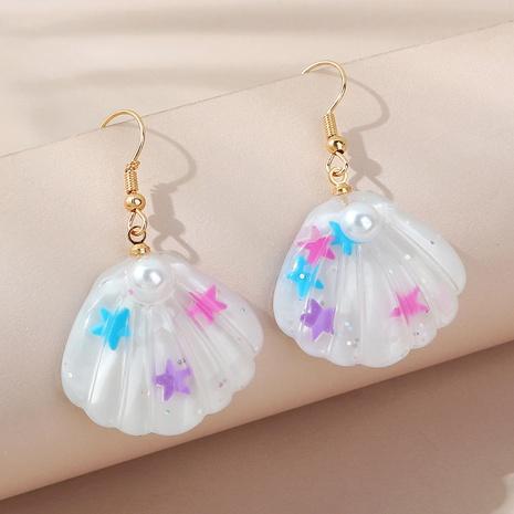 Boucles d'oreilles en coquille de perles de style coréen rétro simples all-match NHPS353427's discount tags