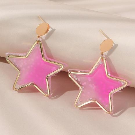 Nouvelles boucles d'oreilles populaires en résine NHPS353449's discount tags
