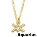 fashion twelve constellation symbol pendent necklace  NHAS353473