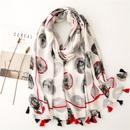 France creative printing lunar dot soft shawl scarf NHGD353519