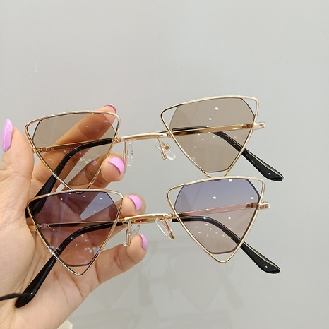 triangle frame hollowed out colorful mercury children's sunscreen sunglasses  NHBA353608's discount tags