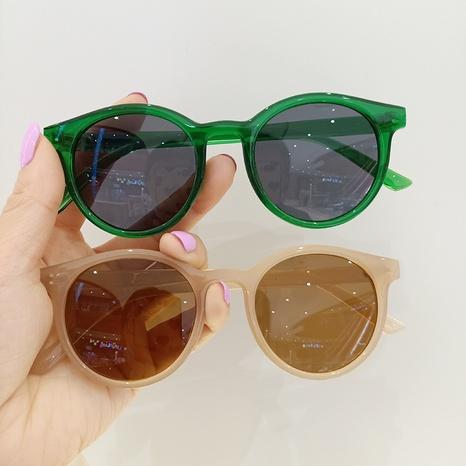 Korean fashion jelly color children's sunglasses  NHBA353610's discount tags