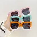 fashion frosted square leopard print color matching childrens sunglasses NHBA353611