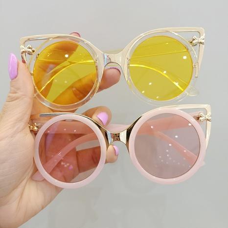 fashion children metal round sunglasses NHBA353622's discount tags