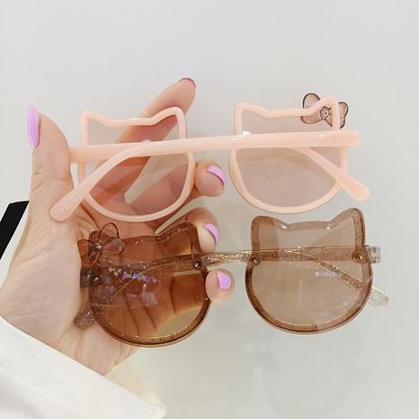 New Korean bowknot cat UV protection children's sunglasses NHBA353623's discount tags