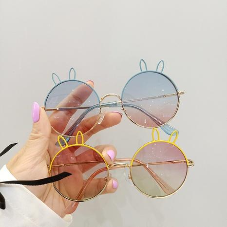 fashion metal cute rabbit sunscreen sunshade children's sunglasses  NHBA353624's discount tags