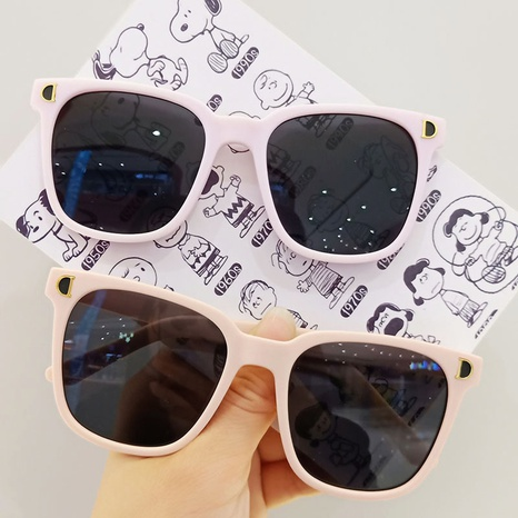 casual new square frame anti-ultraviolet children's sunglasses  NHBA353630's discount tags