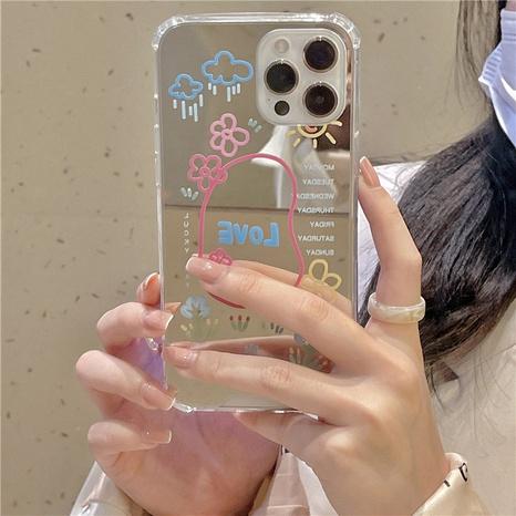 Korean graffiti oil painting flowers mirror mobile phone case  NHFI353695's discount tags