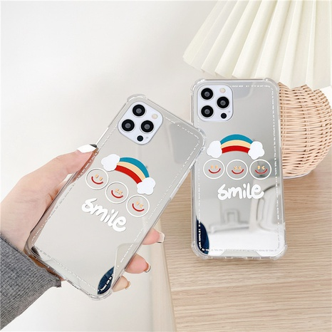 fashion rainbow smiley face mirror mobile phone case NHFI353696's discount tags