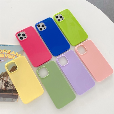 Simple candy color mobile phone soft shell wholesale  NHFI353702's discount tags