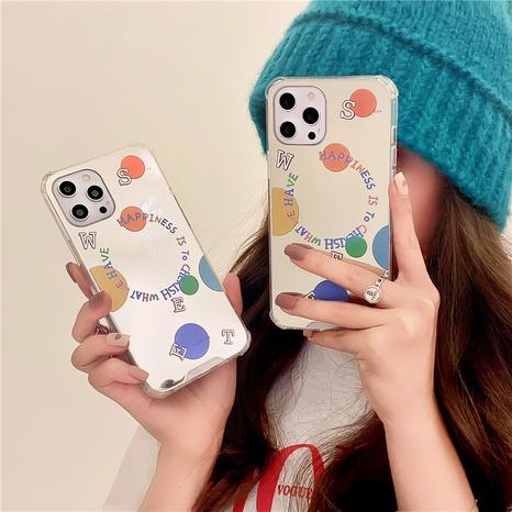cas de téléphone mobile de miroir de lettre de polka dots de couleur de mode NHFI353712's discount tags