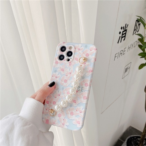 fashion milky white flower pearl bracelet mobile phone case NHFI353728's discount tags