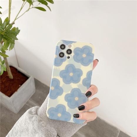Korean contrast color blue flower mobile phone case  NHFI353731's discount tags