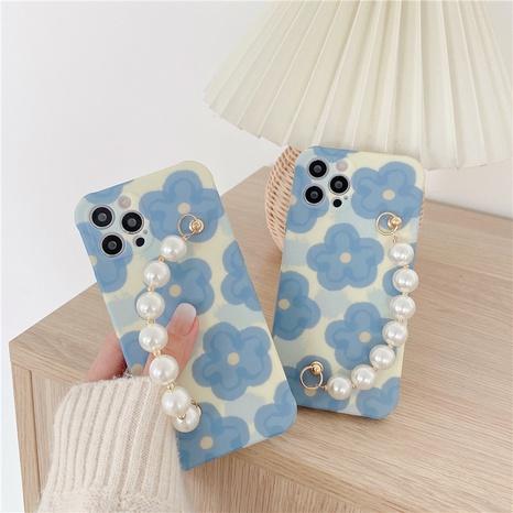 Fashion Blue Flower Pearl Bracelet Phone Case  NHFI353732's discount tags