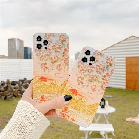 fashion oil painting sunset flowers mobile phone case  NHFI353737's discount tags