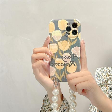 fashion tulip pearl chain mobile phone case NHFI353740's discount tags