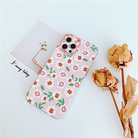 Korean pink floral mobile phone case wholesale  NHFI353739's discount tags