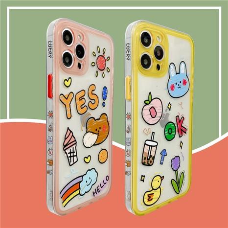 cartoon bear rabbit transparent mobile phone case wholesale  NHFI353745's discount tags