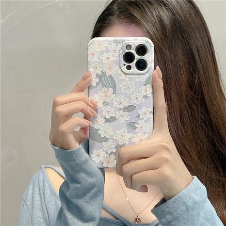 retro light blue flower mobile phone case wholesale  NHFI353747's discount tags