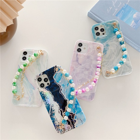 simple laser marble pattern mobile phone case NHFI353749's discount tags