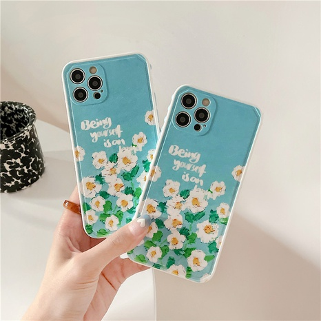 fashion side dot oil painting flower mobile phone case  NHFI353751's discount tags