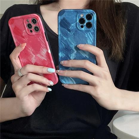 Korean contrast color paint mobile phone case  NHFI353755's discount tags