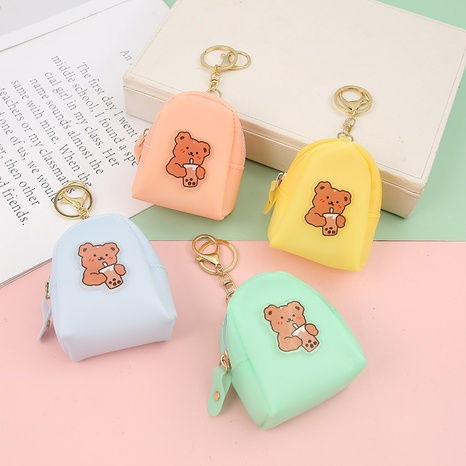 fashion new cartoon bear pattern earphone storage carry-on carrying case NHAE353764's discount tags