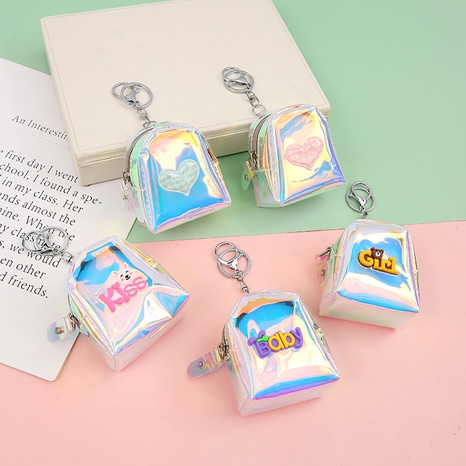Korean style colorful heart-shaped English letter pattern small coin purse  NHAE353765's discount tags