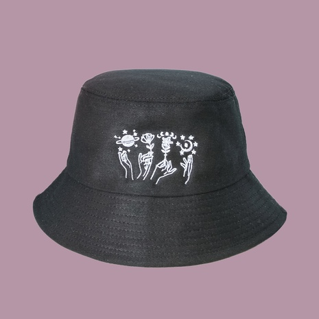 Neue Mode trendige breitkrempige Sonnenschirm Wild Rose Fischerhut NHTQ353794's discount tags
