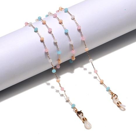 Mode Farbe Kristall rutschfeste handgefertigte Brillenkette NHBC353829's discount tags