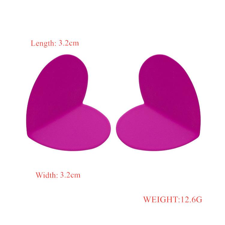 925 silver needle heart earrings oil drop colored stud earrings NHQIY352295