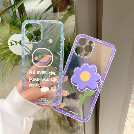 fashion smiling face purple flower mobile phone case  NHFI353718's discount tags