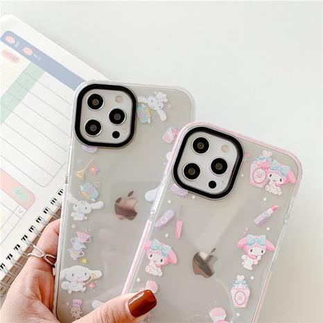 cartoon rabbit printing transparent mobile phone case NHFI353705's discount tags