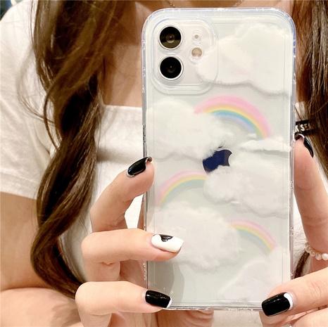 fashion rainbow cloud transparent mobile phone case  NHFI353756's discount tags