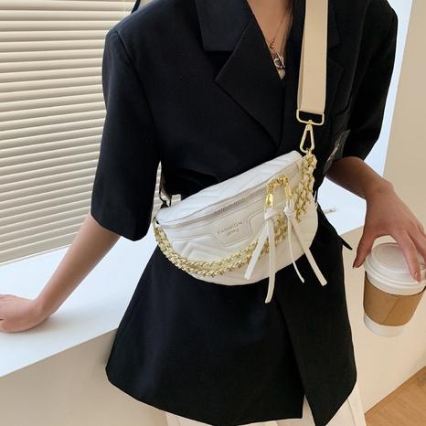 bolso de la cintura del hilo del bordado de la cremallera de la cadena del metal de la moda NHLH354066's discount tags